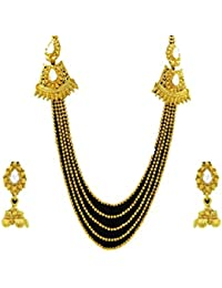 Designer Enclave Alloy Gold Color Necklace Set For Women DE-002