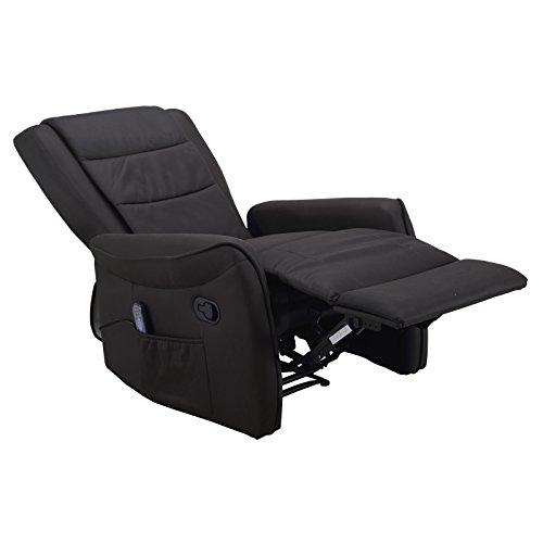 Shiatsu Massage Fernsehsessel Relaxsessel Elektr Mikrofaser Anthrazit Nur 59900EUR