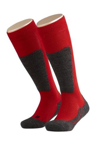 FALKE Mädchen Kniestrümpfe Active Ski, Einfarbig, Gr. 39 (Herstellergröße: 39-42), Rot (Fire 8150)