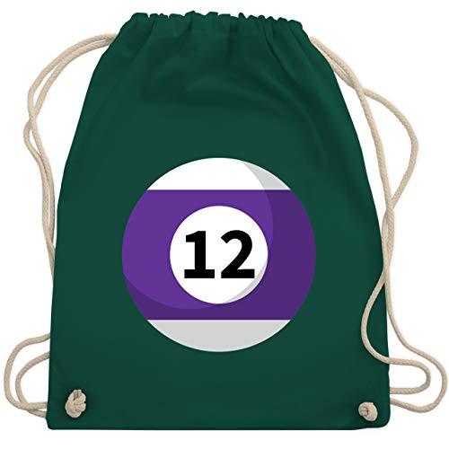 Karneval & Fasching - Billardkugel 12 Kostüm - Unisize - Dunkelgrün - WM110 - Turnbeutel & Gym Bag