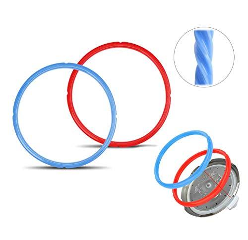 Xstar Silikon-Dichtungsring für Ersatz-Schnellkochtopf, 5/6 l, 2 Stück, Rot/Blau (Topf, Ersatz Topf 6 Qt)