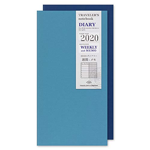 Traveler's Notebook 2020 Weekly + Memo Diary Regular Size - Refill agenda settimanale