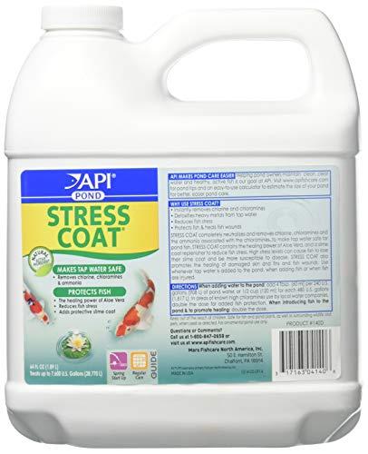 PondCare 140D 64 oz Stress Coat Fisch und Wasser Klimaanlage Weiß