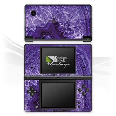DeinDesign Skin kompatibel mit Nintendo DSi Aufkleber Sticker Folie Crystal Kristall Lila Lila Crystal Skin