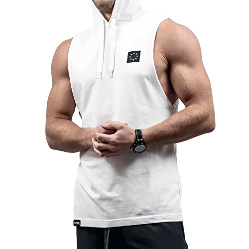 Hyperfusion Core Hooded Cut Off Tank Top Shirt Hoodie Gym Fitness (M, ()