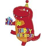 Amscan - Globo de cumpleaños, diseño de dinosaurio