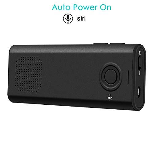 SAWAKE Bluetooth Hands Visier Auto Kit mit Siri, drahtlose Bluetooth Speakerphone Auto Power On mit Bewegungssensor Wireless Audio Musik GPS Empfänger für iPhone, Samsung, Huawei & andere Smartphone