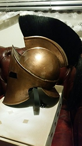 ANTIQUENAUTICAS Spartaner König Leonidas MITTELALTERLICHER Römischer Helm Griechisch mit Red Plum Kostüm TRAGBAREM ()