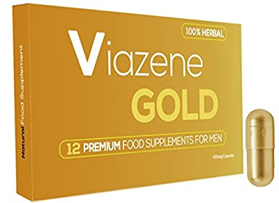 New Ultra Strong Viazene - Gold Male Virility - Sexual Performance Enhancement Pills - Food Supplement - Testosterone Booster - Best Sexual Stimulant for Men - Pack of 12 by ViazeneGold