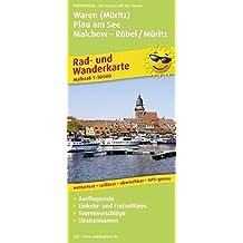 Waren (Müritz) - Plau am See - Malchow - Röbel/Müritz: Rad- und Wanderkarte mit Ausflugszielen, Einkehr- & Freizeittipps, wetterfest, reissfest, ... 1:50000 (Rad- und Wanderkarte / RuWK)