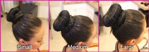 nalmatoionme schwarz 3Stück Mädchen Frauen Haar Nadel Styler Donut Bun Maker 1groß, 1Mittel, 1klein