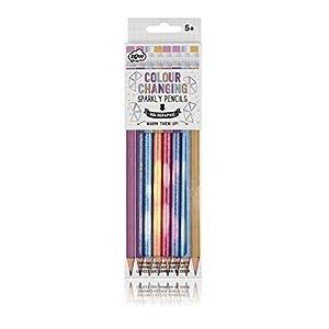 NPW NPW49091 Schreib/Zeichenstifte mit Radiergummis - 8er Pack Farbwechselnde Bleistifte Sketch und Colour