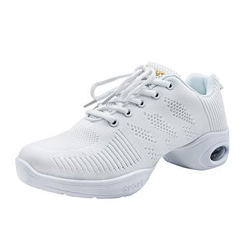 uirend Schuhe Sport Outdoorschuhe Tanzschuhe Damen - Mesh Lace Up Schuh Modern Tanz Jazz Tango Gymnastik Sportschuhe Freizeit Training Sneaker Atmungsaktiv Bequem (Schuhe sind Kleiner) - Lace Up Mesh Sneakers