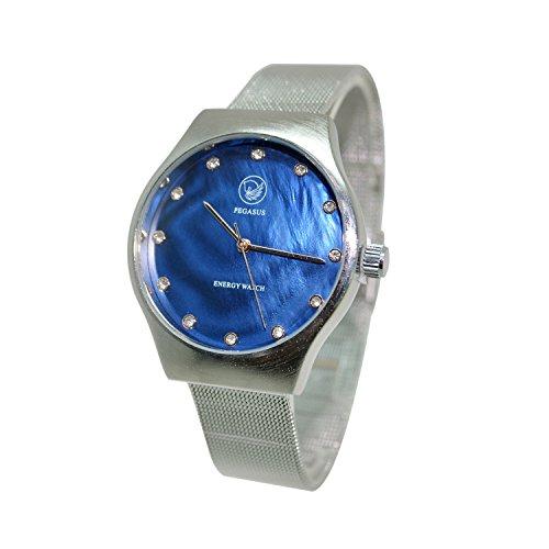 Energetix-4you Herren Magnetschmuck Uhr analog Automatik mit Edelstahl Armband und Swarovski Elements2791
