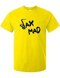 Doodleman Sax Mad Fun Saxophone Motif Music T-Shirt.