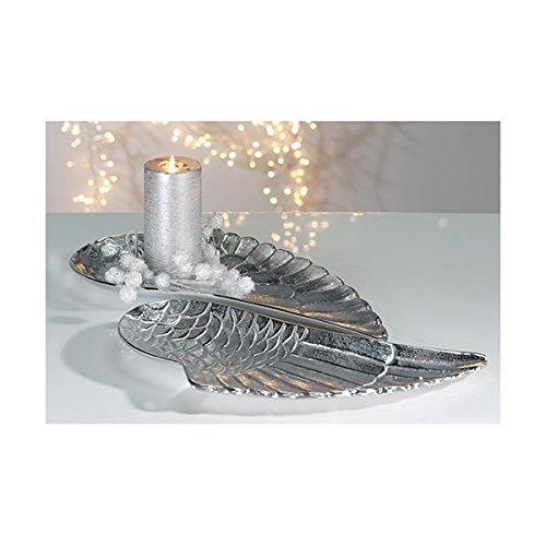 "Edle Schale \""Flügel\"" aus Aluminium · poliert Länge 40 cm · Breite 18 cm Alu Engelflügel Engel"
