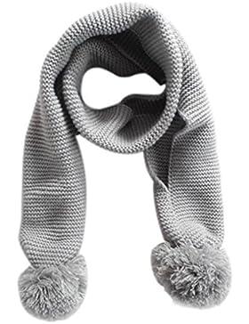Bufanda bebe,Morwind niño niña de punto bufanda bebé pañuelo invierno cálido color sólido bufanda para niños