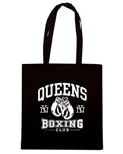T-Shirtshock - Borsa Shopping TBOXE0094 queens boxing Nero