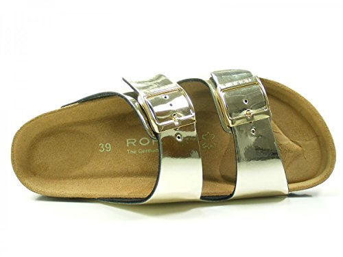 Rohde Damen Alba Pantoletten Gold (Gold)