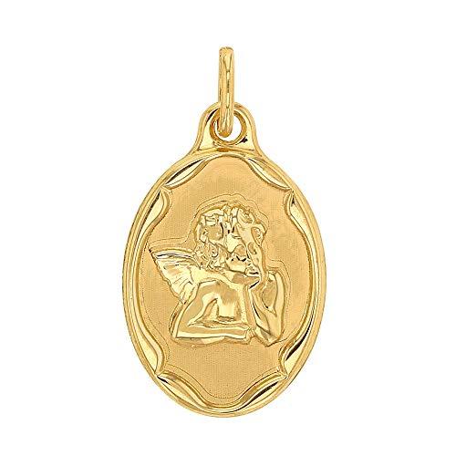 Jouailla 305026 Medaille Engel oval aus Gold 750/1000