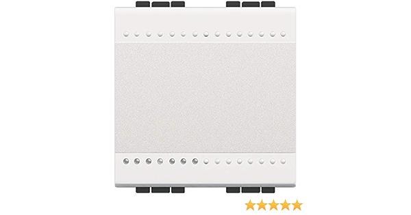 BTicino N4005M2A Poussoir /à Bascule Livinglight Contact NO 10A 250V 2 Modules Blanc