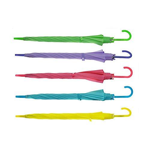 Greetuny 1X Colores Paraguas Largo Mujer Transparente