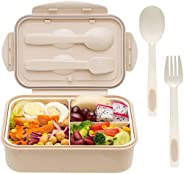 Bento Boxes for Adults - 1400 ML Bento Lunch Box For Kids Childrens With Spoon and Fork - Durable, Leak-Proof