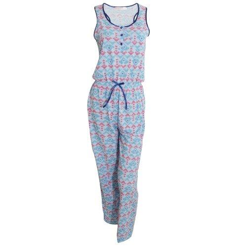 44bf50d4e Pijama mono   entero sin mangas con estampado de corazones para mujer