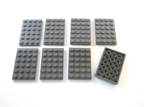 8 LEGO Planchas 4 x 6 Gris azulado oscuro