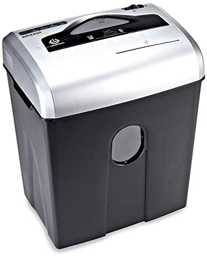 AmazonBasics 12-Sheet Cross Cut Paper with CD and Credit Card Shredder