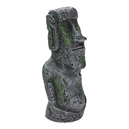 Ostern Beste Wohnkultur !!! Beisoug Easter Island Gesicht Kopf Statue mit Kunstharz ()