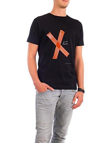 """Design T-Shirt Männer Continental Cotton """"You Can Me Crosswise"""" - stylisches Shirt Typografie von Boris Draschoff Schwarz"""