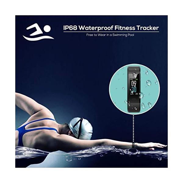 CHEREEKI Pulsera Actividad, Fitness Tracker IP68 Impermeable 14 Modos de Ejercicio 3