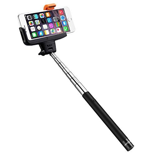 Mpow iSnap Pro 2-In-1 Selfie Stange Selfie Stick mit integrierten Bluetooth-Fernauslöser ideal für drinnen oder draußen, Smartphone Fotografen kreative Kombination von erweiterbar und Remote Camera Shooting Shutter mit Adjustable Grip Halter, iPhone 6 6S 6 Plus 6S Plus 5S 5 5C 4S 4, Samsung Galaxy S6 S6 Edge S5 S4 Mini, HTC M9 M8, Sony Z5 Z4 Z3 Compact, MP3 Players usw.