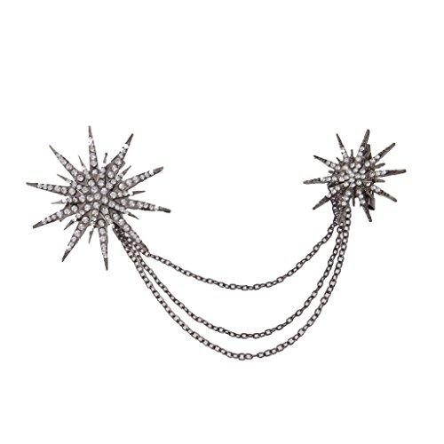 Männer Frauen Brosche Blumen Revers Kette Kragen Hals Spitzen Kristall Sonne - Revers-stifte