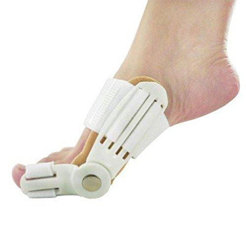 (Fuß Zehen Hallux Valgus Korrektur Fußpflege Orthopädische Tag und Nacht Orthesen WEIß)