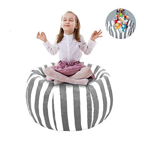 """UMYMAYDO1 38\"""" Stofftier Kuscheltiere Aufbewahrung Aufbewahrungstasche Sitzsack Kinder Soft Pouch Stoff Stuhl (Gray)"""