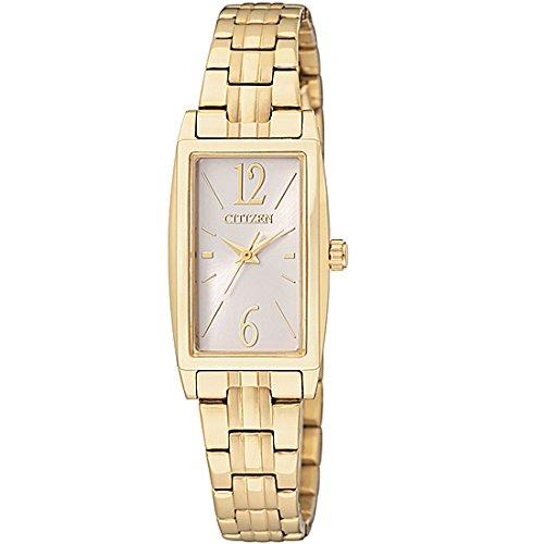 Citizen Damen Analog Quarz Uhr mit Edelstahl beschichtet Armband EX0302-51A