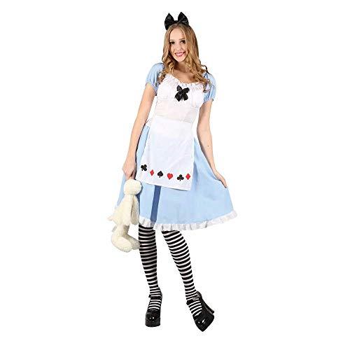 Womens Kostüm Wicked Alice - Ladies Adorable Alice Costume for Wonderland Fairytale Fancy Dress