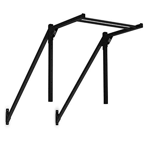 CAPITAL SPORTS Ringtop 150 Power Rack-Anbauteil Rig Montage zur Verbindung zwischen Upright-Bar und Wand für Kletterübungen (Wandmontage, Metall-Konstruktion, Gymnastik- und Turnringe) schwarz