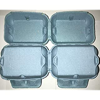 HAPPY CHICKENS 50 NEW 1/2 DOZEN 'FLAT TOP' CARDBOARD EGG BOXES IN BLUE