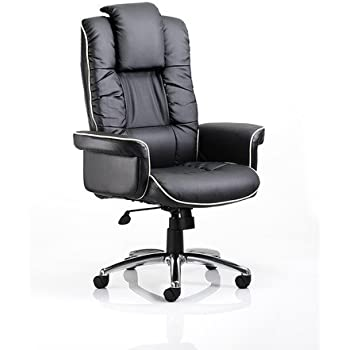 CHELSEA BLACK BONDED LEATHER EXECUTIVE ARMCHAIR