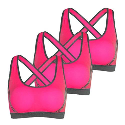 TOPKEAL 3 STÜCK Frauen Laufen Sport BH Yoga Workout Weste Ernte Dame Tops Shapewear Schwimmen BH