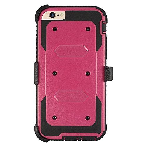 Film de protection d'écran Full Body Heavy Duty protection chocs réduction Coque pour iPhone 6/6S noir rose