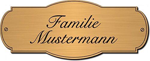 Türschild, Klingelschild, Namensschild, Briefkastenschild, Pokalschild, Typ:Messing 401-01 - 100x40...