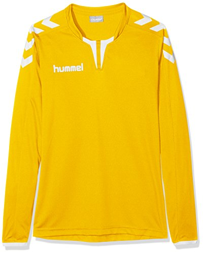 Hummel Jungen Trikot Core Long Sleeve Poly Jersey, Sports Yellow, 164-176