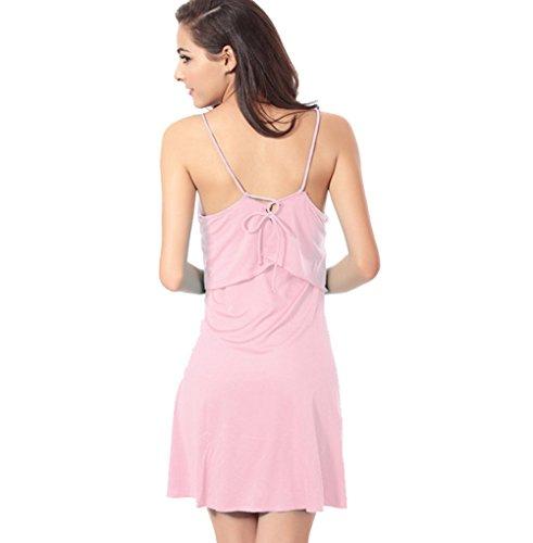 UDreamTime Damen der reizvollen Bikini Strandkleidung rückenfreie Vertuschung Bademode Strandkleid Pink