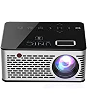 Unic UC 200 up to 60 Inches Screen, Support AV/HDMI/USB/SD/1920*1080 Pixel 68 Lumens Mini Portable Projector