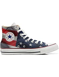 Converse All Star Hi Customized personalisiert Schuhe (gedruckte Schuhe) American flag (USA)