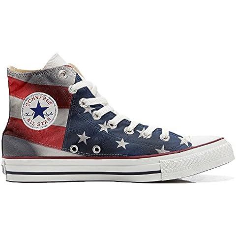 Converse Customized - zapatos personalizados (Producto Artesano) con la bandera americana (USA)